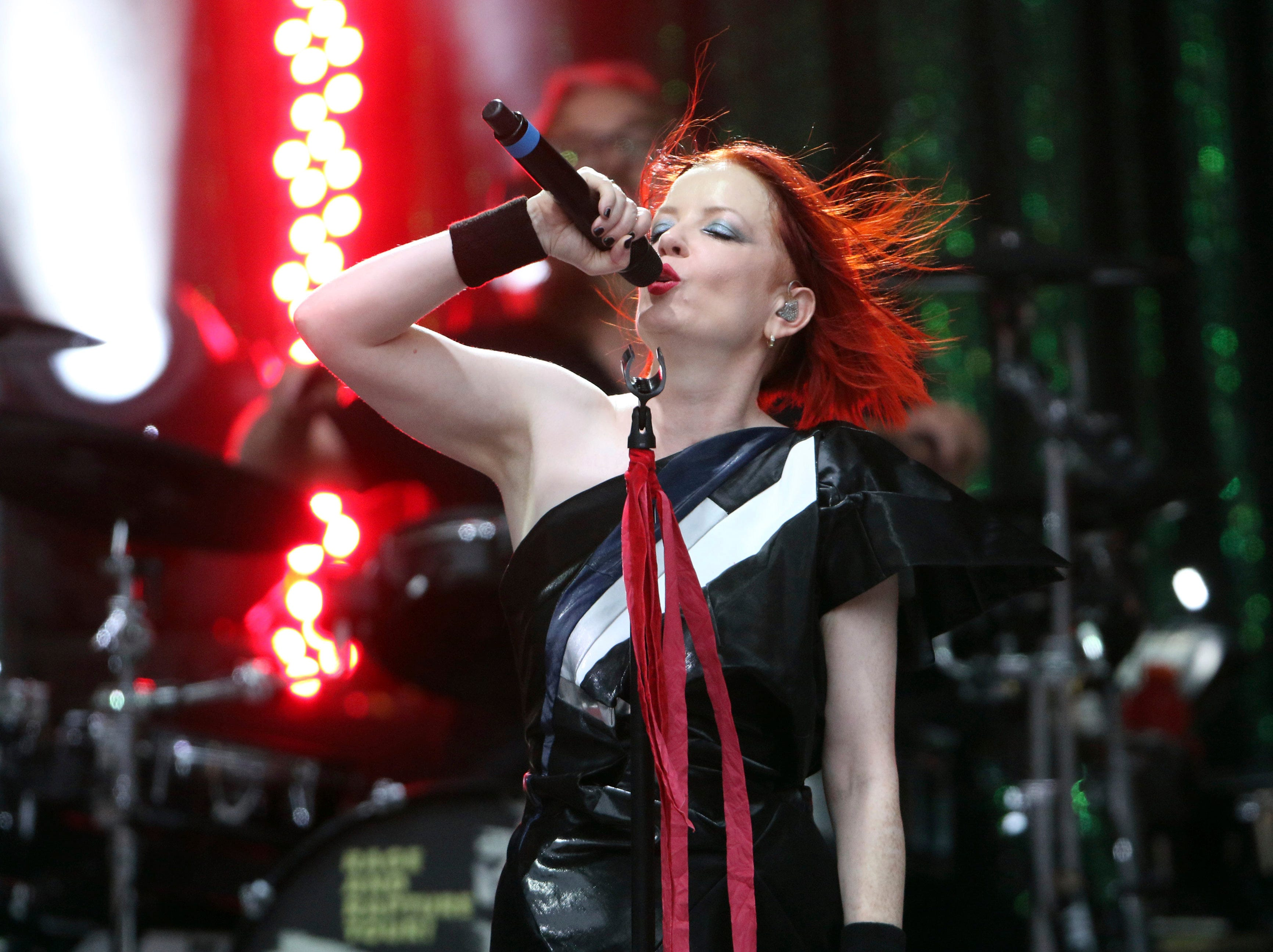 Shirley Manson of Garbage performs Aug. 6, 2017, during Blondie & Garbage: The Rage and Rapture Tour at Chastain Park Amphitheatre in Atlanta. Garbage will perform at SunFest in West Palm Beach.