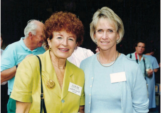 Philanthropists Suzan Phillips, left, and Susan Schuyler Smith stood together in 1993 as the leaders of what would become a successful $9 million campaign to purchase and restore McKee Jungle Gardens, later renamed McKee Botanical Garden, to its original grandeur.