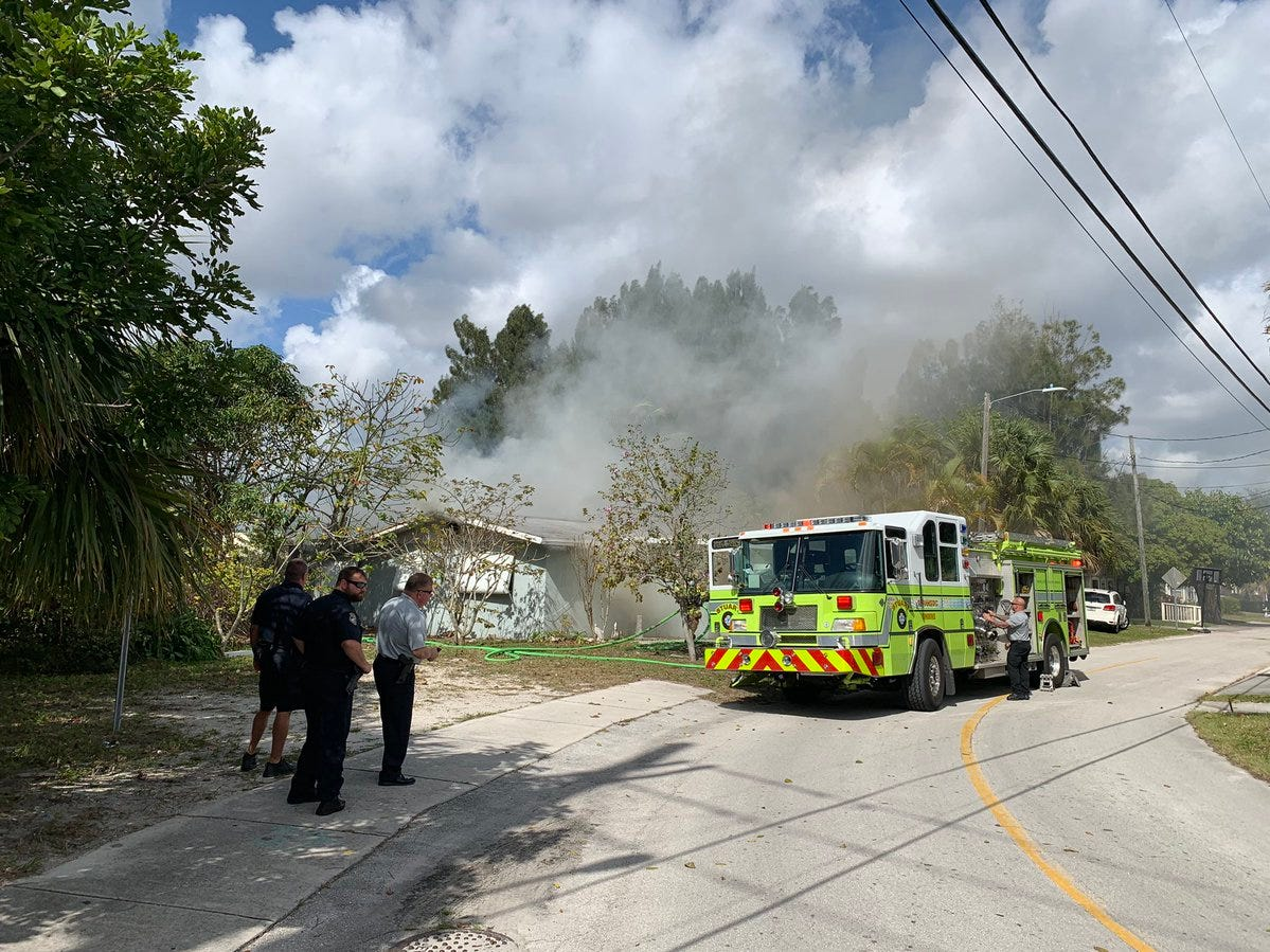 A home fire occurred Tuesday morning in East Stuart, fire officials said.