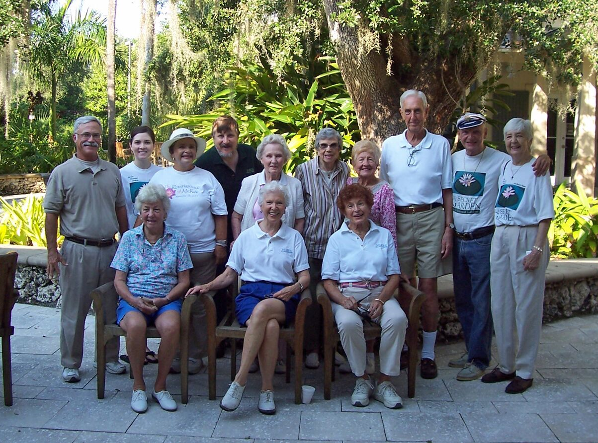 The Saturday Morning Gang in 2010. Suzan Phillips is seated in the front row on the far right. Not only did Phillips and Susan Schuyler Smith lead the successful charge to raise the needed $9 million, but they stood shoulder-to-shoulder with the Saturday Morning Gang of volunteers formed to restore the garden.