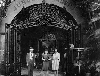 The history of McKee Jungle Gardens goes back to 1932 when an 80-acre property along the Indian River opened in Vero Beach, becoming one of Florida's largest tourist attractions. Pictured is the original pergola at the entrance to the gardens.