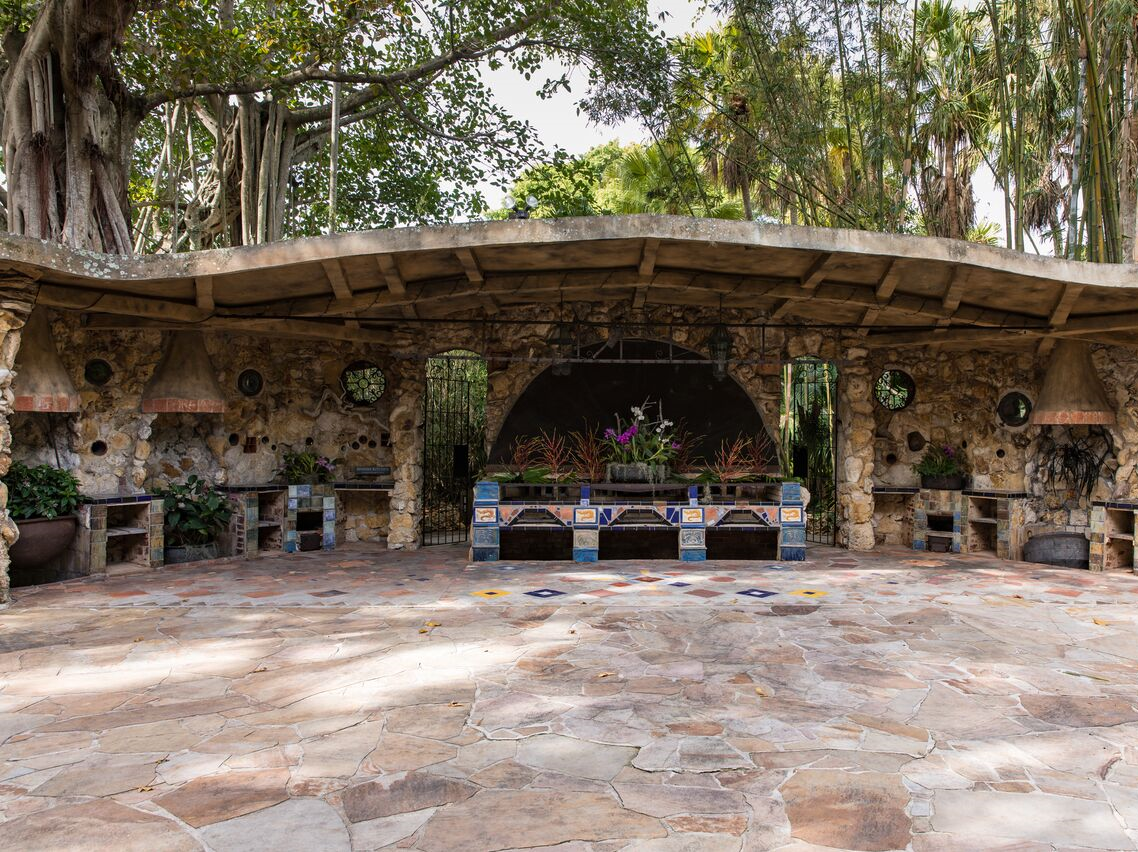 The Spanish Kitchen at McKee Botanical Garden was restored to its original condition as part of the $9 million purchase and renovation project that started in 1995.