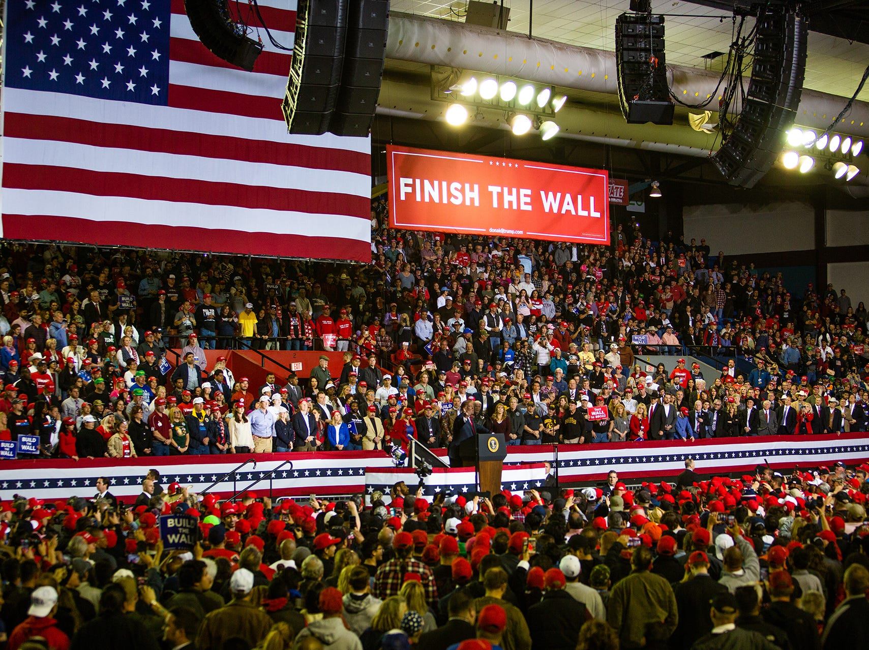 President Donald Trump held rally Monday at the El Paso County Coliseum. Trump spoke at length about finishing the wall. His visit came days after the President's State of the Union speech which angered many El Pasoans prompting a protest outside the coliseum. Beto O'Rourke held a competing rally across the street from Trump's rally.