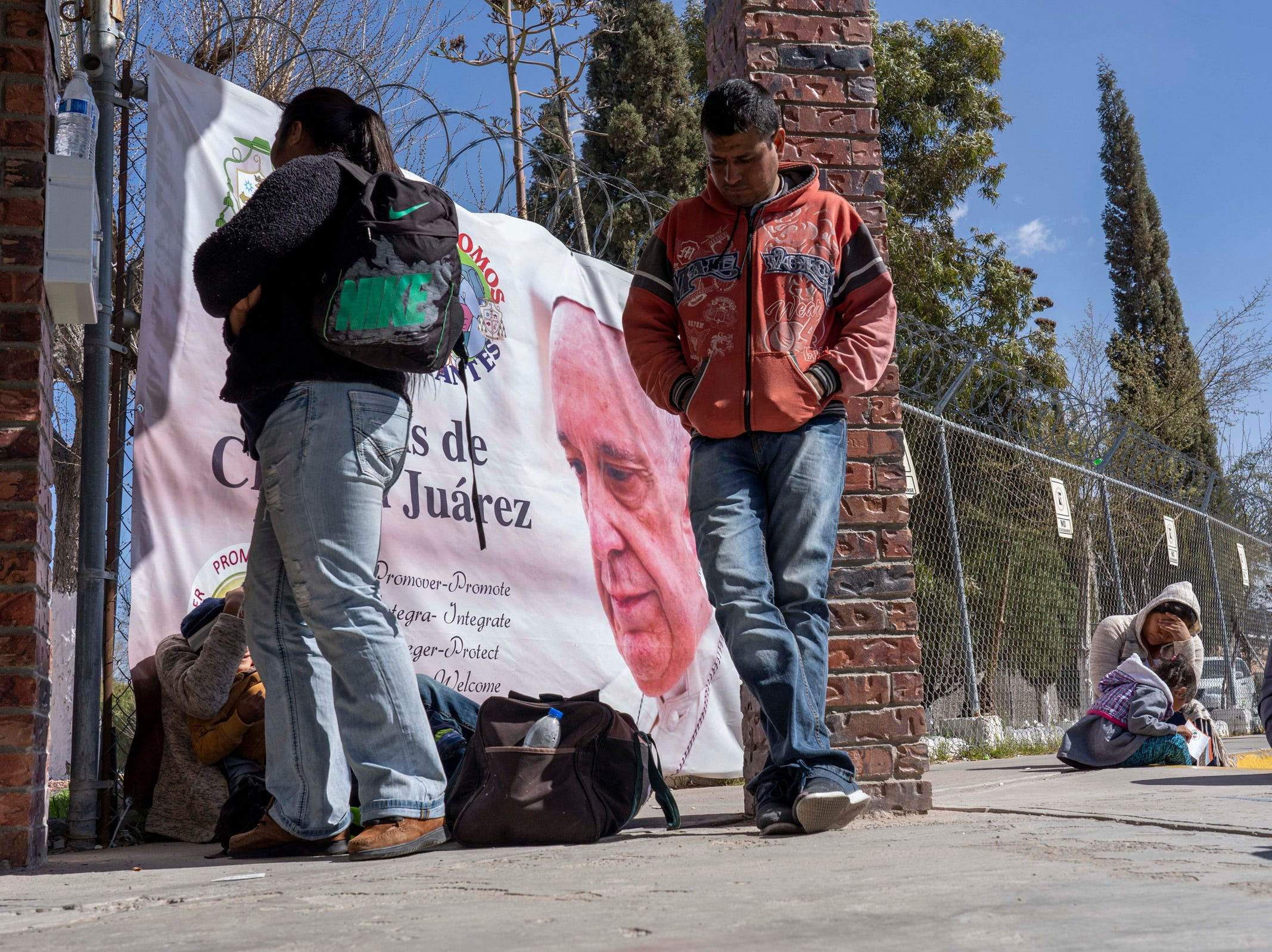 2/11/19 11:23:57 AM -- El Paso, TX, U.S.A  -- On Monday morning, dozen newly-arrived migrants from around Mexico and Latin America to the Casa del Migrante, the Catholic-run shelter for migrants located in Ciudad Juarez.  Photo by Nick Oza, Gannett