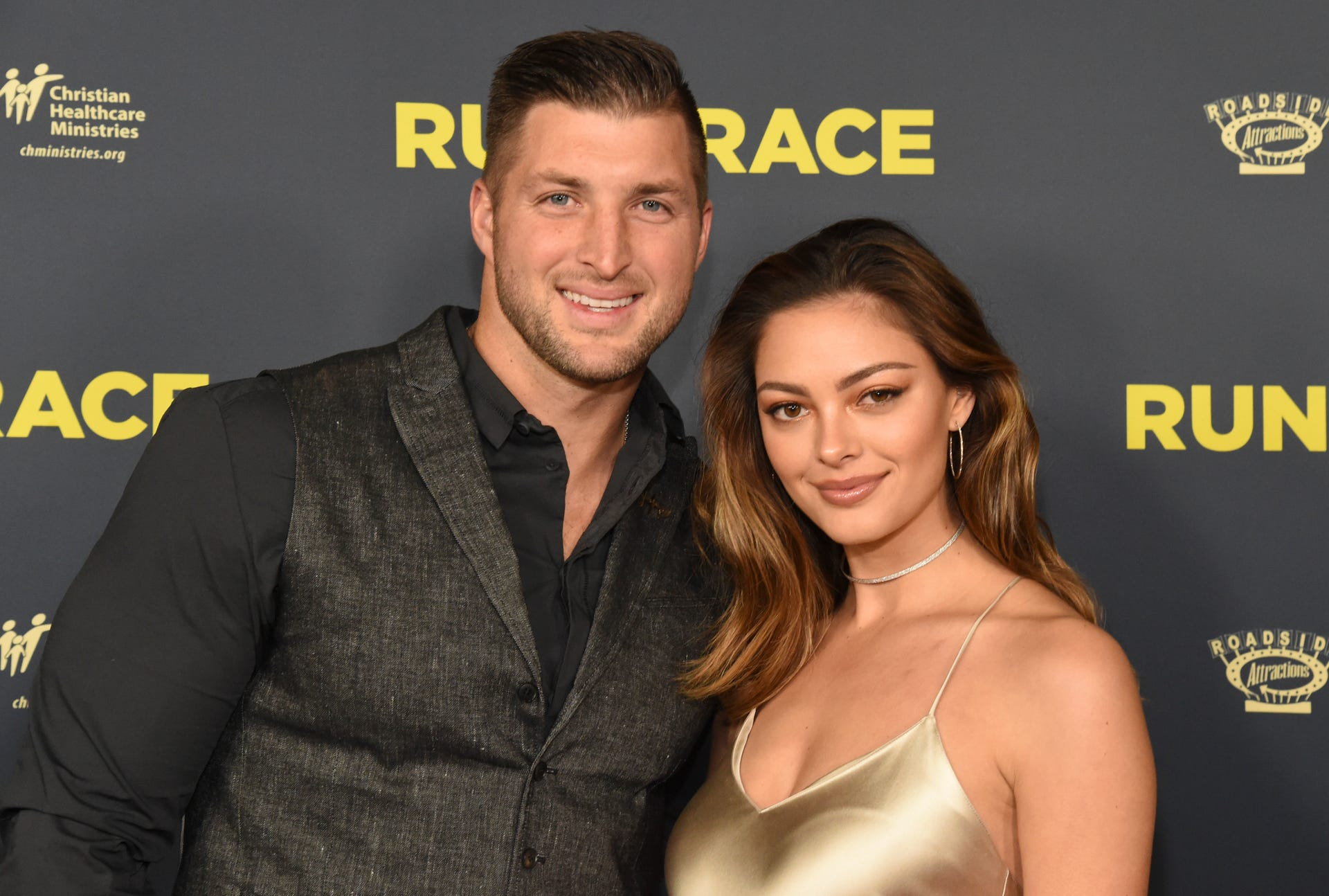 Tim Tebow and Demi-Leigh Nel-Peters at 'Run the Race' movie