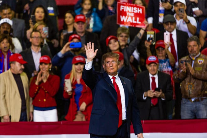 President Donald Trump held a rally Monday at the El Paso County Coliseum. Trump spoke at length about finishing the wall. His visit came days after the president's State of the Union speech, which angered many El Pasoans and prompted a protest outside the coliseum. Beto O'Rourke held a competing rally across the street from Trump's rally.