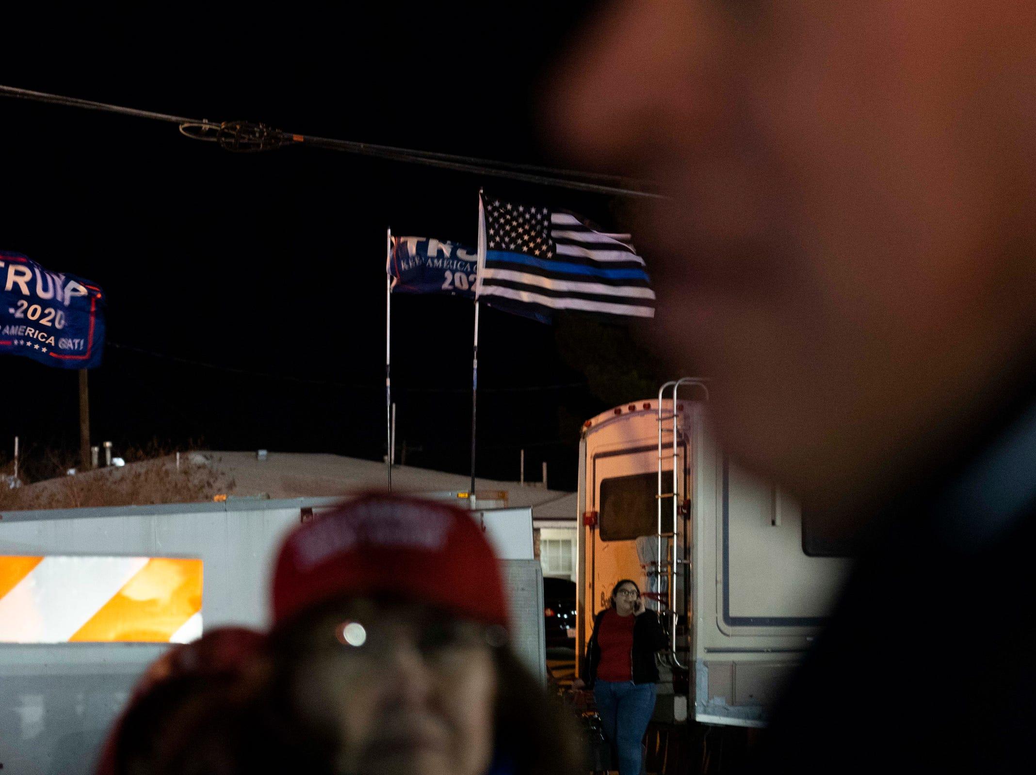 2/11/19 9:08:58 PM -- El Paso, TX, U.S.A  -- President Trump campaign rally near El Paso County Coliseum on Feb. 11, 2019.