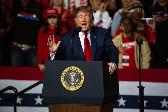 President Donald Trump held rally on Feb. 11 at the El Paso County Coliseum. Trump spoke at length about finishing the border wall. Beto O'Rourke held a competing rally across the street from Trump's event.