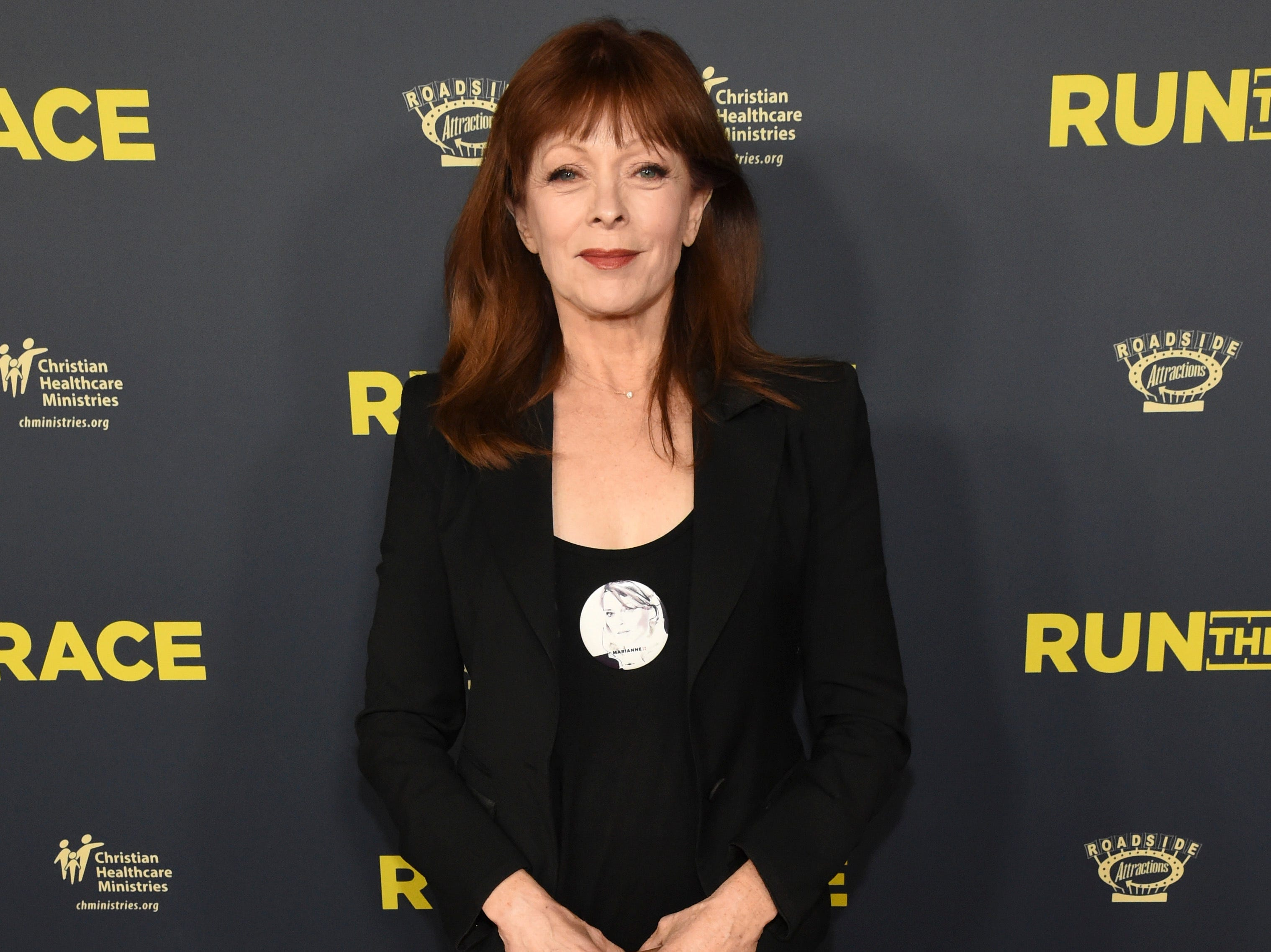 "Cast member Frances Fisher attends the ""Run the Race"" world premiere held at the Egyptian Theatre on Monday, Feb. 11, 2019, in Los Angeles."