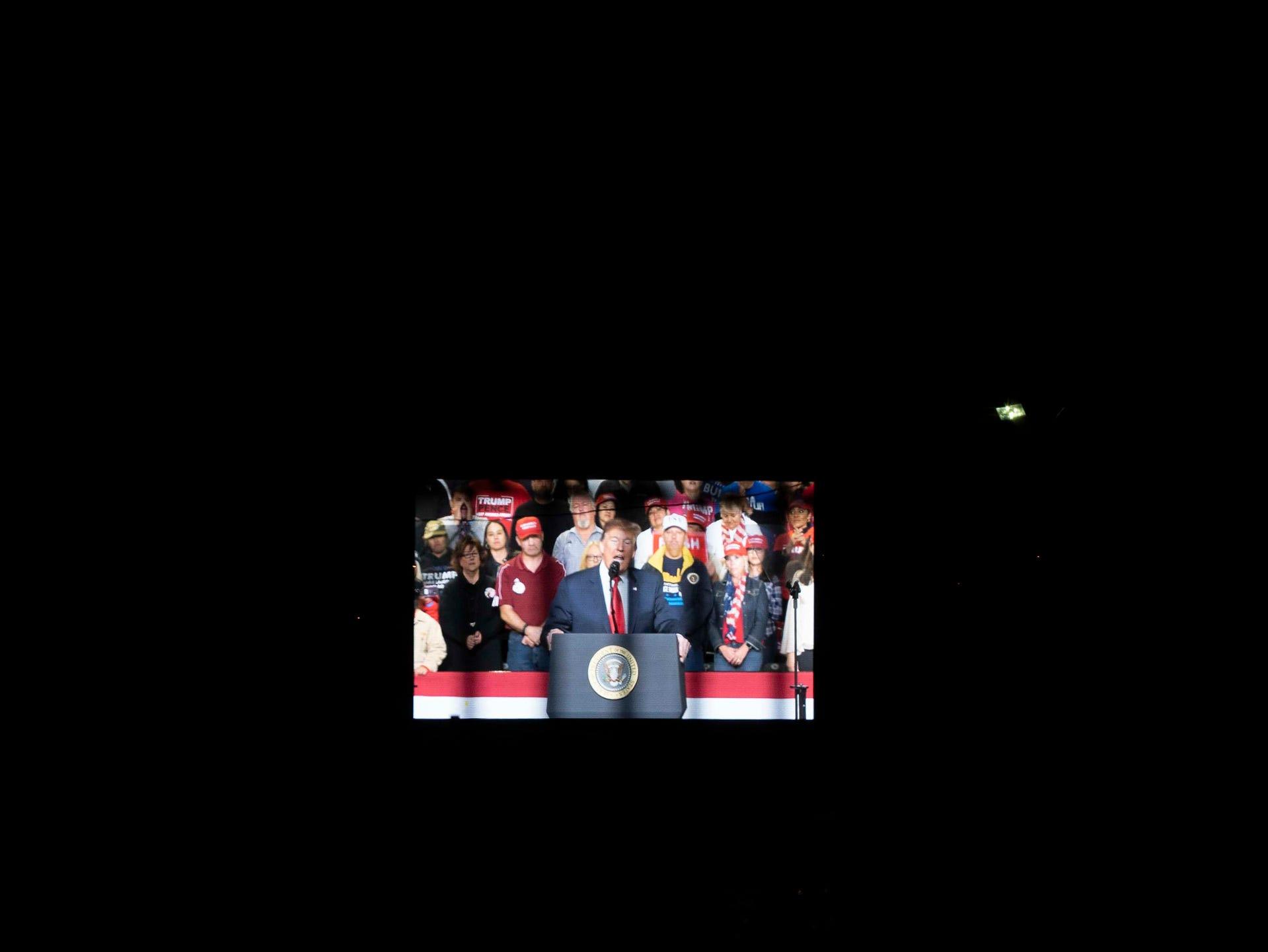 2/11/19 8:18:14 PM -- El Paso, TX, U.S.A  -- President Trump campaign rally near El Paso County Coliseum on Feb. 11, 2019.