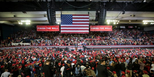 President Donald Trump held a rally Feb. 11, 2019, at the El Paso County Coliseum. Trump spoke at length about finishing the border wall. His visit came days after the president's State of the Union speech, which angered many El Pasoans and prompted a counterprotest near the coliseum. Beto O'Rourke held a competing rally across the street from Trump's rally.