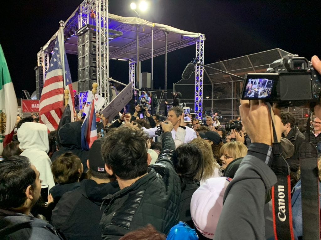 Support was evident for Beto O'Rourke at the counter-rally Monday, Feb. 11, 2019, in El Paso.