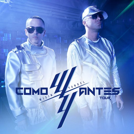 Wisin & Yandel will be at the El Paso County Coliseum in May.