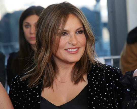Actress Mariska Hargitay attends the Christian Siriano Runway Show held at Top of the Rock at Rockefeller Center during New York Fashion Week on Saturday, Feb. 9, 2019 in New York.
