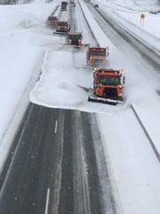 Plows clear the way on State 29.