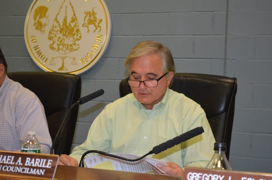 Carmell Town Board member Michael Barile said there were 16 truckloads of asphalt millings dumped at Swan Cove more than two years ago.