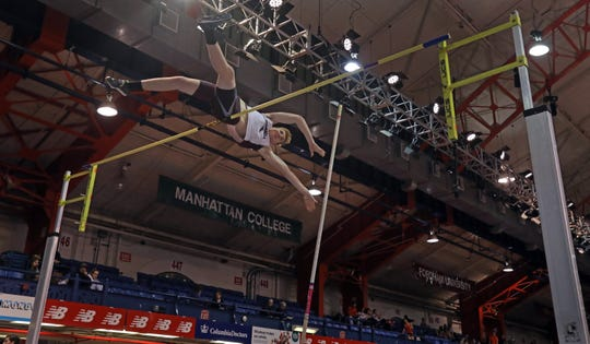 Valhalla's Henry Pennella wins Boys Pole Vault during Section 1 Class C Championships at The Armory in Manhattan Feb. 11, 2019.