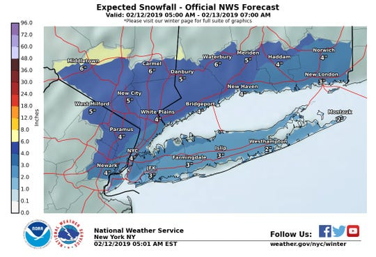 Snow is expected to blanket the Lower Hudson Valley today.