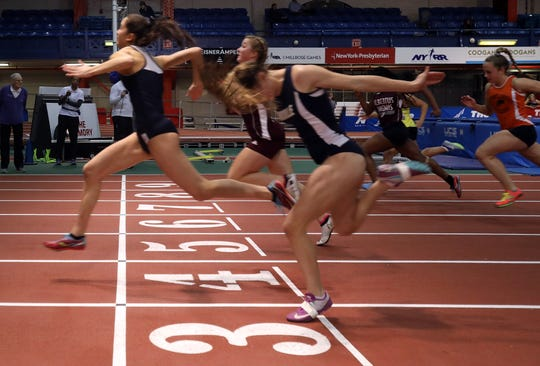 Bronxville's wins Girls 55 Meter Dash during Section 1 Class C Championships at The Armory in Manhattan Feb. 11, 2019.