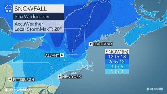 Snow is expected to hit the Lower Hudson Valley today.
