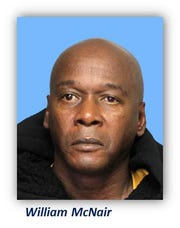 William McNair was charged for stealing from a car in Wilmington last month.