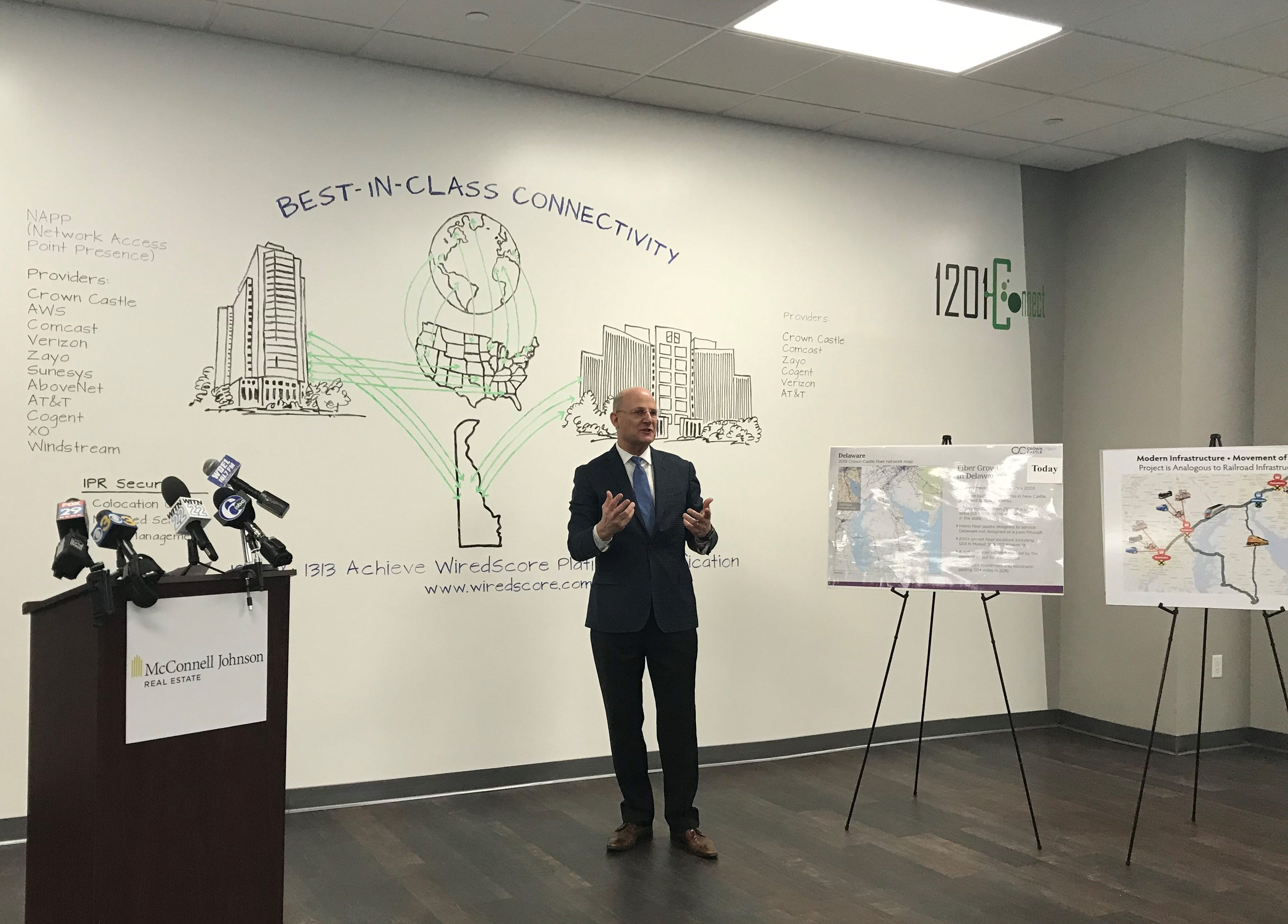 Scott Johnson of McConnell Johnson Real Estate talks about his downtown Wilmington buildings' Internet connectivity