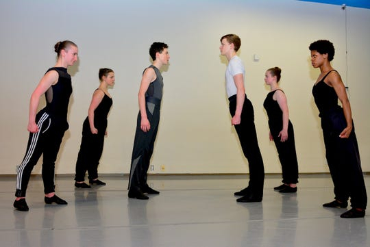 "The Sharks face off against the Jets (l to r) when members of the Wichita Falls Ballet Theatre perform ""West Side Story-Symphonic Dances' with the Wichita Falls Symphony Orchestra at the WFSO's Dance Mix at 7:30 p.m. Saturday, Feb. 23 at Memorial Auditorium."