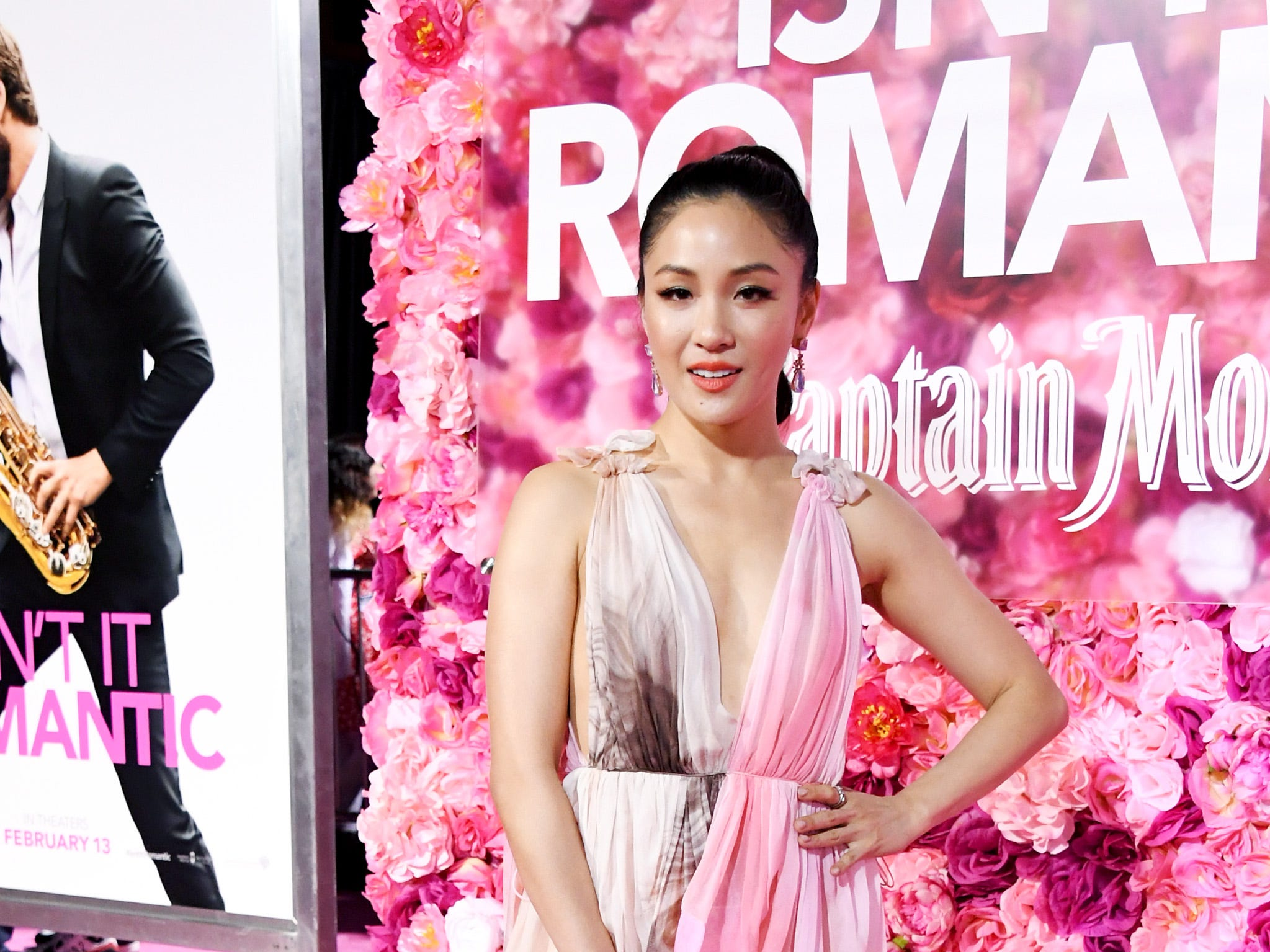 "LOS ANGELES, CALIFORNIA - FEBRUARY 11: Constance Wu attends the premiere of Warner Bros. Pictures' ""Isn't It Romantic"" at The Theatre at Ace Hotel on February 11, 2019 in Los Angeles, California. (Photo by Jon Kopaloff/FilmMagic) ORG XMIT: 775292838 ORIG FILE ID: 1129042557"