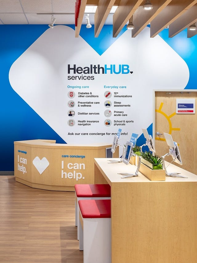 CVS concept store introduced with space for health care services