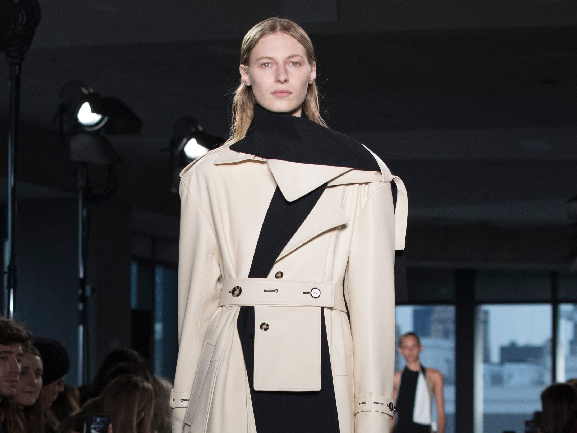 Proenza Schouler played with deconstructed menswear in this look.