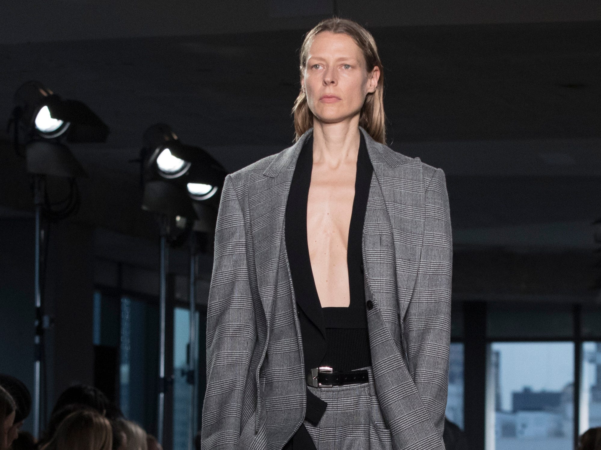 Oversized suiting is still in style at Proenza Schouler.