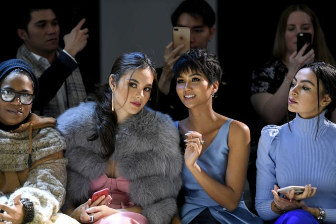 The seventh and penultimate day of New York Fashion Week began with a Miss Universe reunion. The pageant's reigning winner, Catriona Gray of the Philippines, and  Miss Vietnam, H'Hen Nie, sat together at the Phuong My show.