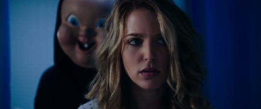 "Tree (Jessica Rothe) faces another time loop of being stalked by a killer in the sequel ""Happy Death Day 2U."""