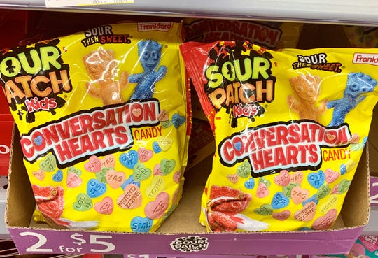 "Sour Patch Kids has Conversation Hearts, which are ""sour then sweet."""