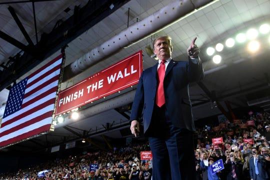 Trump durante su mitin en El Paso, Texas.