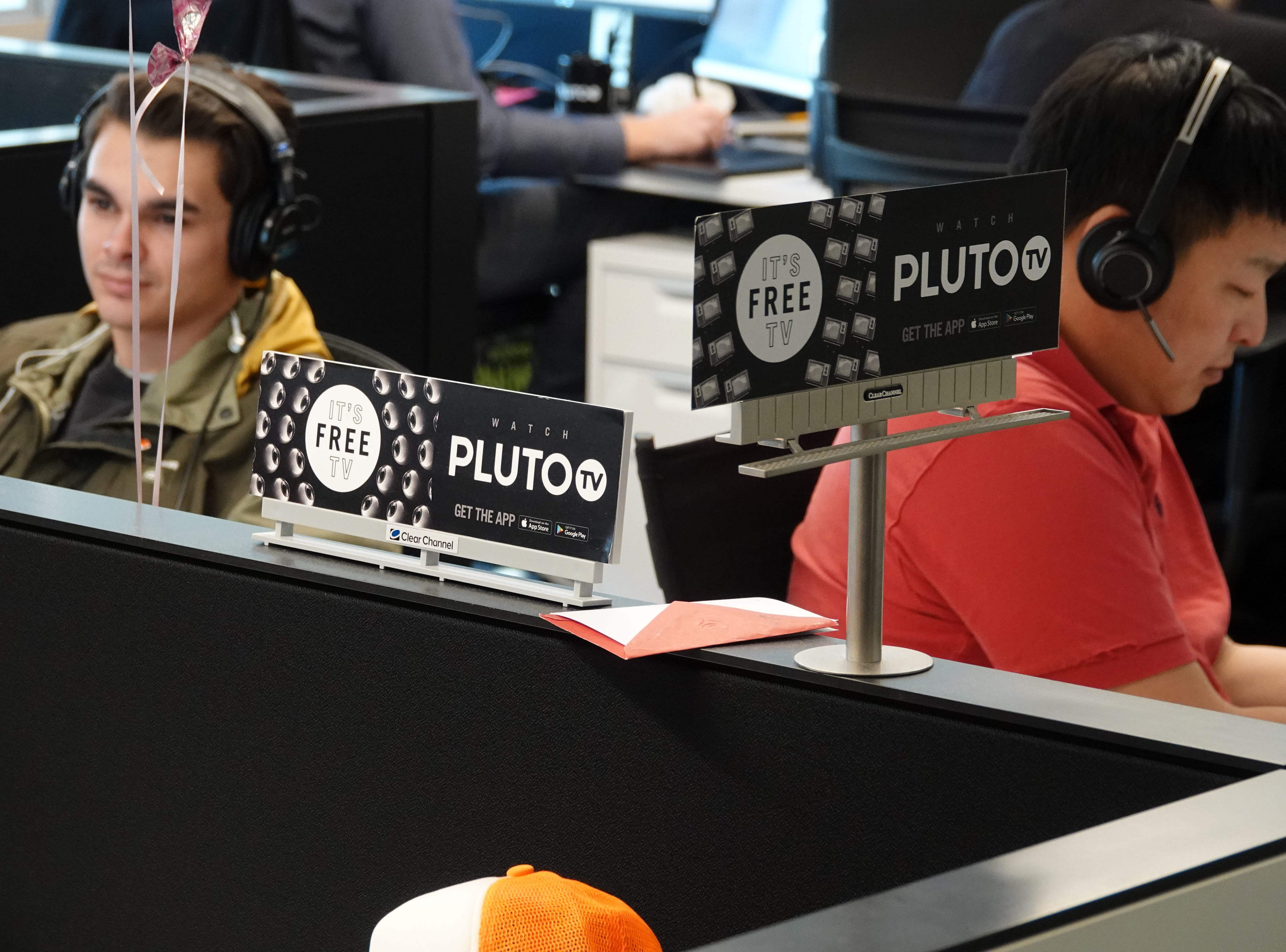 Staffers at the Pluto.TV headquarters in West Hollywood