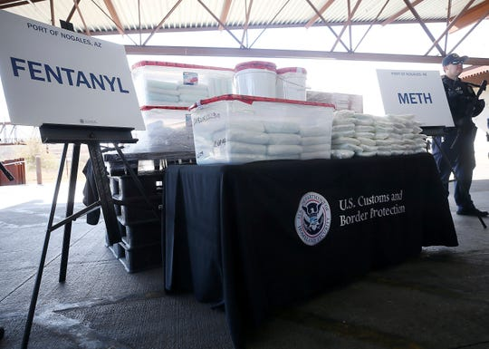 Fentanyl and methamphetamine seized by Customs and Border Protection officers in January 2019 at a border entry point in Nogales, Arizona.