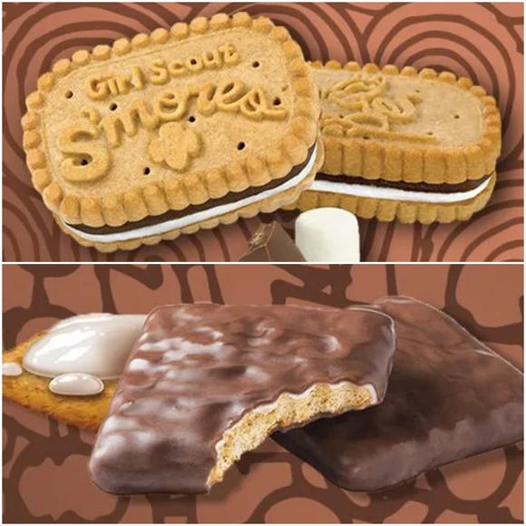 Both are called Girl Scout S'mores but they are two completely different cookies.