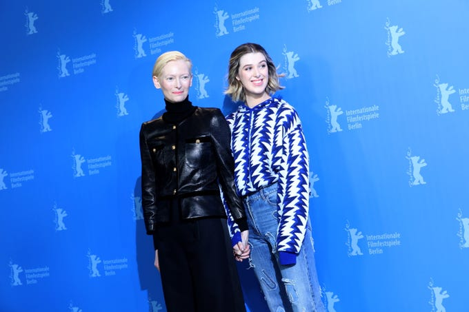 The Super Bowl and the Grammys were just two of the events that made February a star-studded month. Here, Oscar winner Tilda Swinton brought along daughter actress Honor while promoting 'The Souvenir' Feb. 12, 2019, at the Berlin Film Festival.  Click forward to see what else celebs were up to in February.