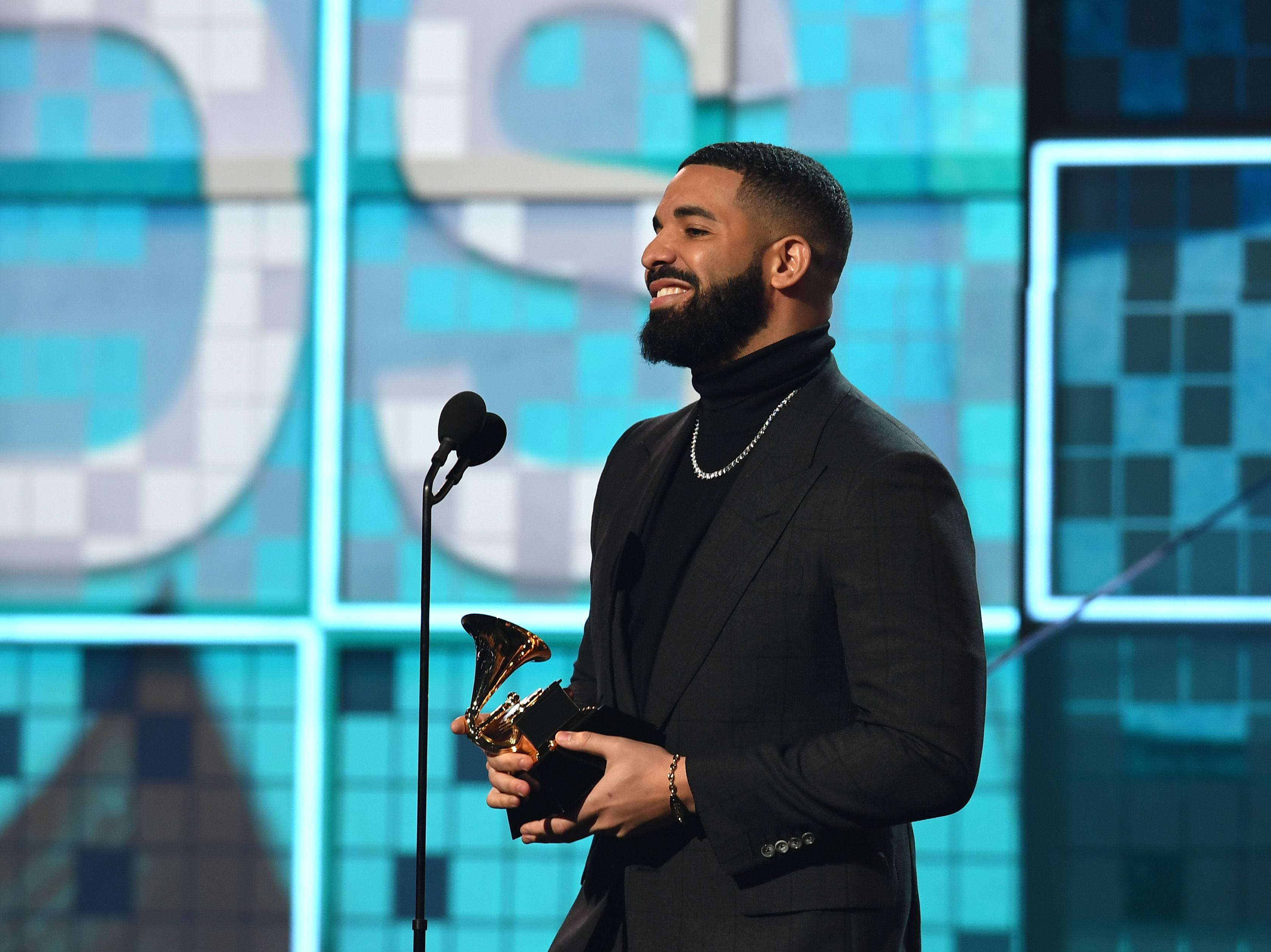 "Canadian rapper Drake collected his fourth Grammy for ""God's Plan,"" only to be cut off mid-speech."