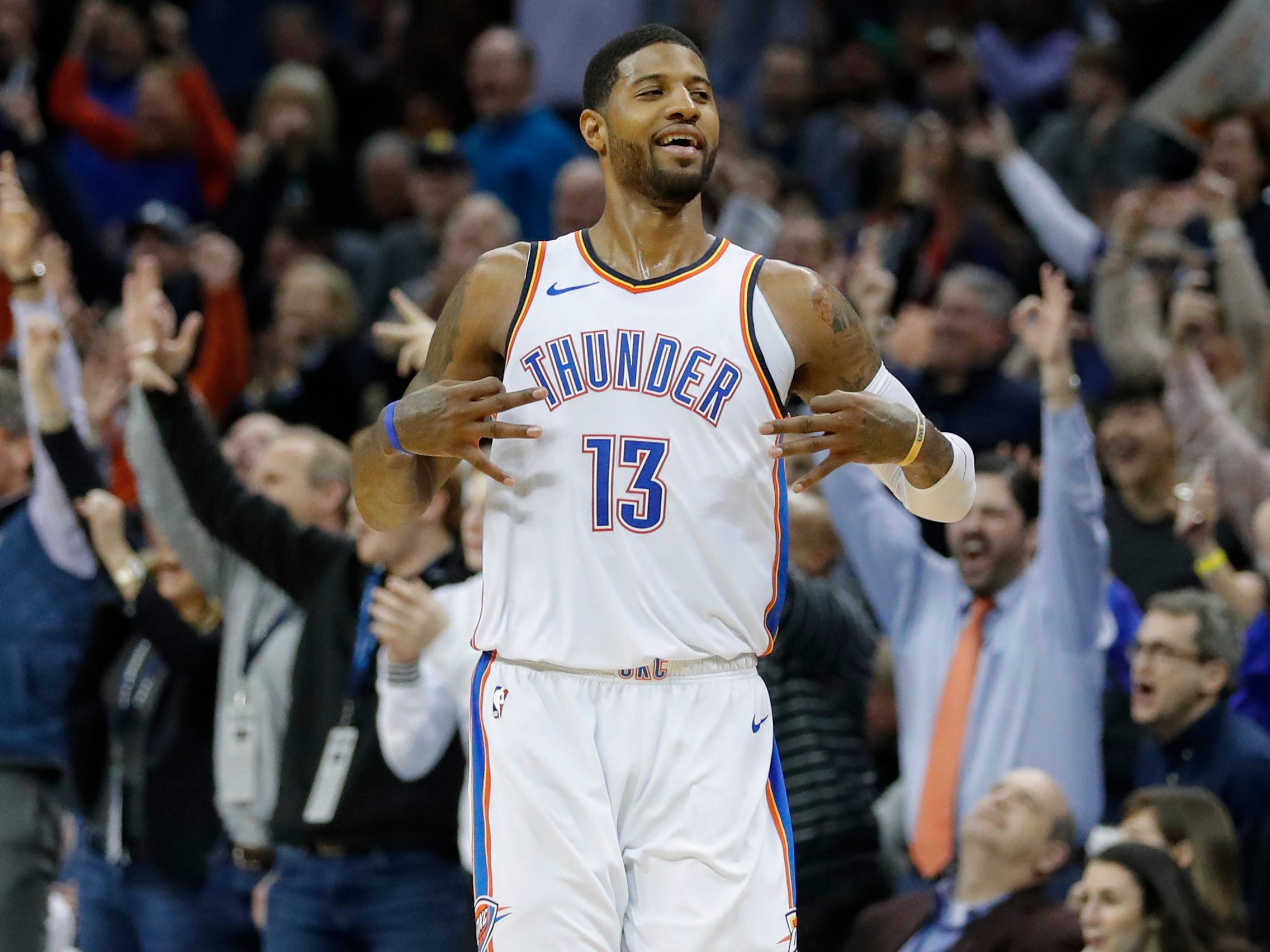 81. Paul George, Thunder (Feb. 11): 47 points, 12 rebounds, 10 assists in 120-111 win over Trail Blazers.