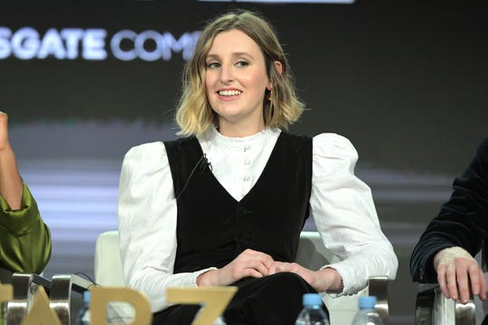 Laura Carmichael of 'The Spanish Princess' speaks onstage during the Starz 2019 Winter TCA Panel.