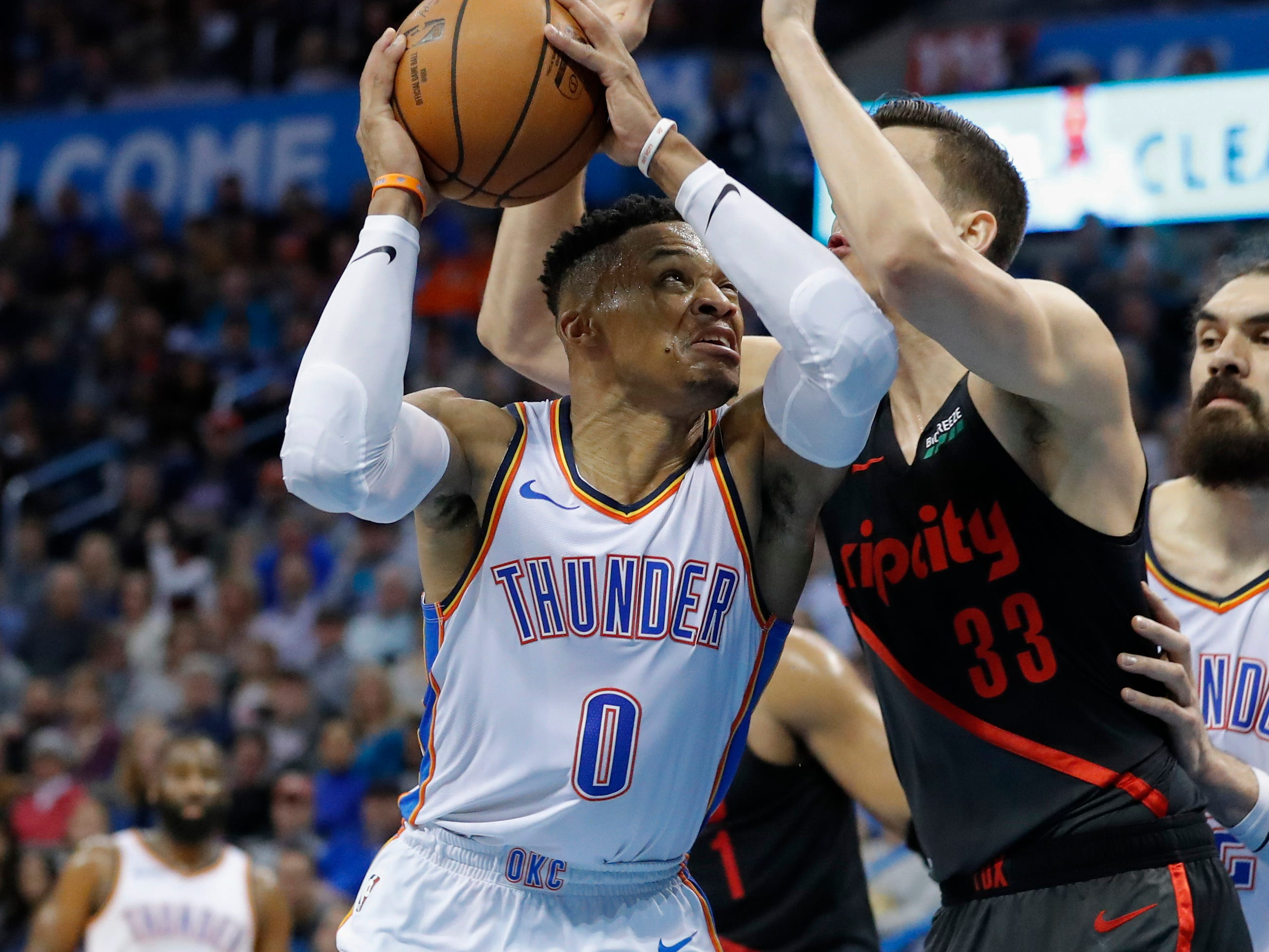 80. Russell Westbrook, Thunder (Feb. 11): 21 points, 14 rebounds, 11 assists in 120-111 win over Trail Blazers (23rd of season).
