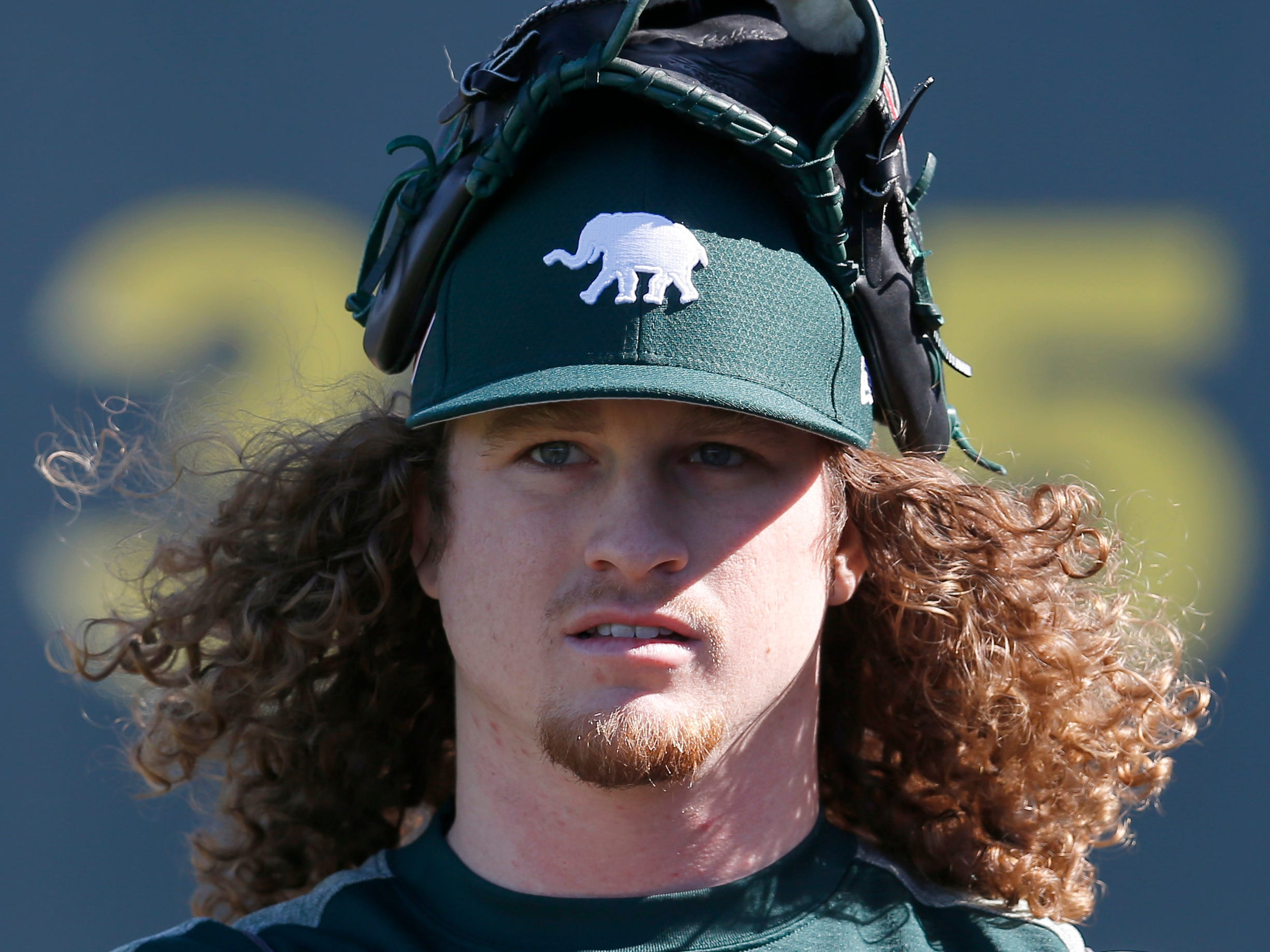 Feb 11: Athletics pitcher Grant Holmes arrives camp in Mesa, Ariz.