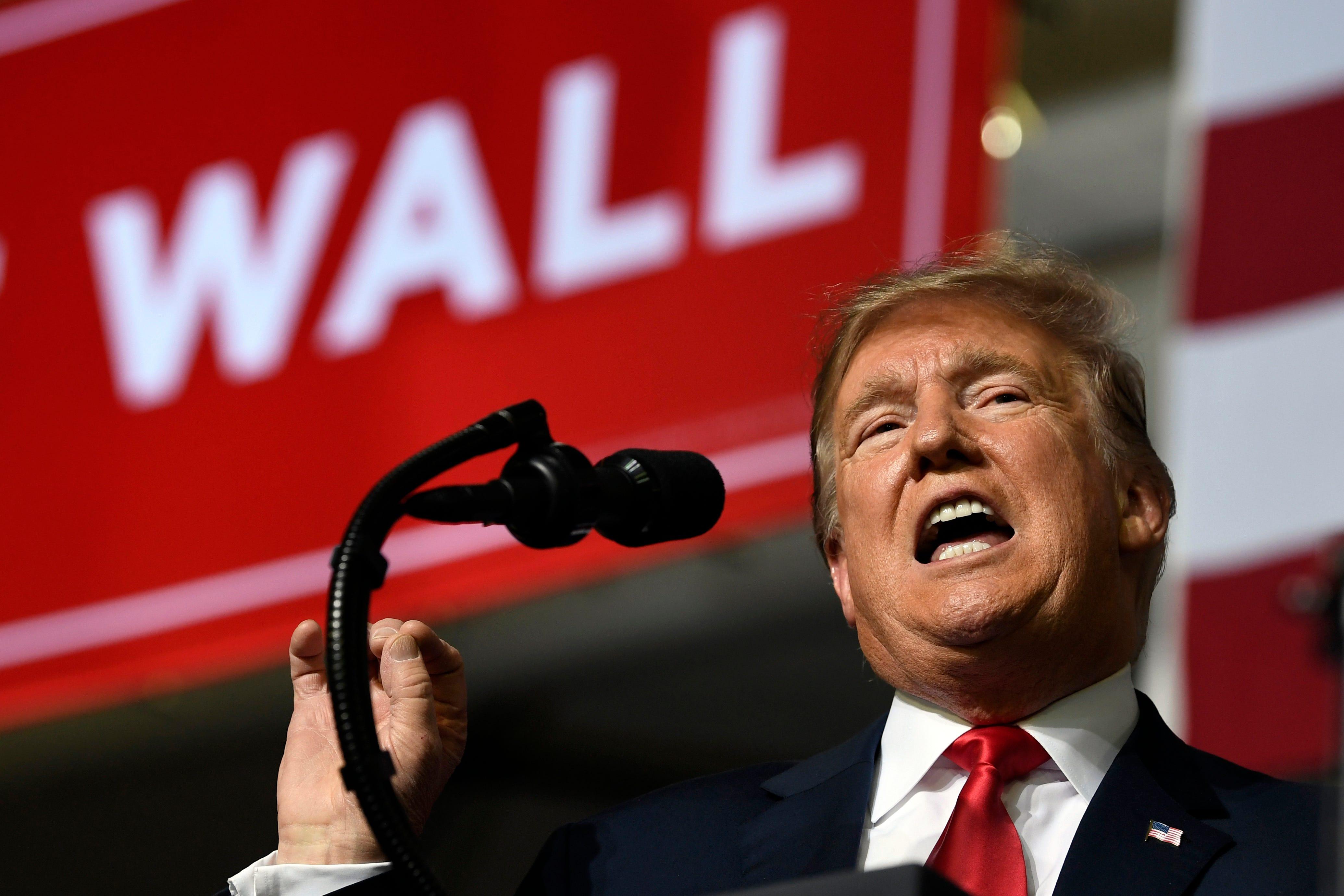 President Trump speaks true thru a rally in El Paso, Texas.