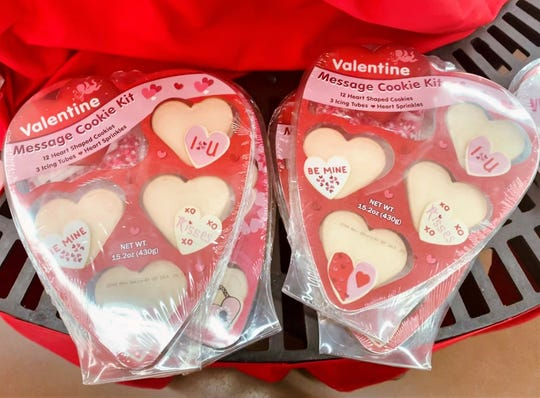 Start your conversation with a Valentine Message Cookie Kit. It includes cookies, icing and sprinkles for less than $6 at Walmart.