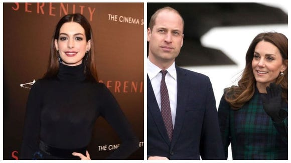 Anne Hathaway said she's picked up an unexpected parenting tip from the Duke and Duchess of Cambridge.