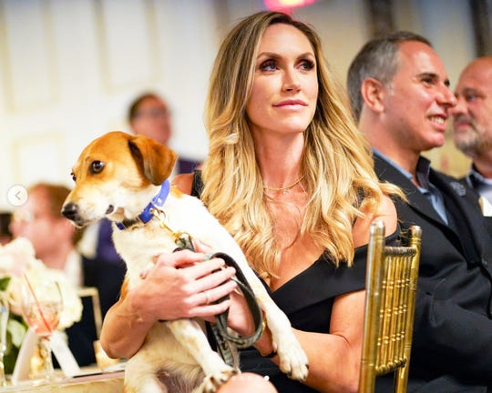 Lara Trump, at a benefit in October for Rescue Dogs Rock NYC, is endorsing a push by lawmakers to end fatal research experiments on dogs at the Department of Veterans Affairs.