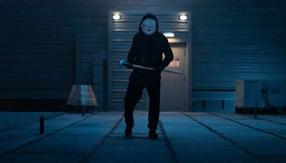 """The mysterious baby mask killer haunts Bayside University once more in """"Happy Death Day 2U."""""""