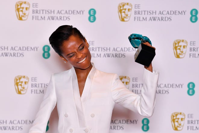 British-Guyanese actress Letitia Wright was honored with the Rising Star Award at the BAFTA British Academy Film Awards